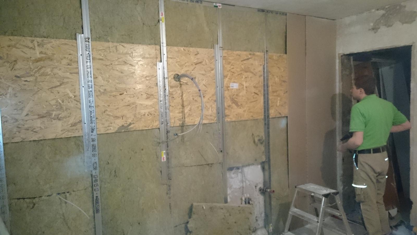 Trockenbau in der Küche – Baustelle LoriHaus